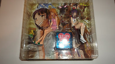 Love Hina Again anime manga figure set Kanako Naru RARE NEW OOP