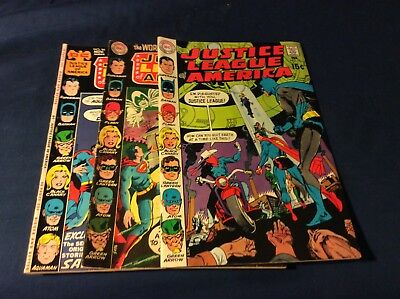 3 Justice League of America Comics # 83, 78 & 94 Vg/Vg+ cond.