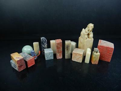 J4442: Chinese Stone Chop stamp material SEALS Bundle sale Calligraphy tool.