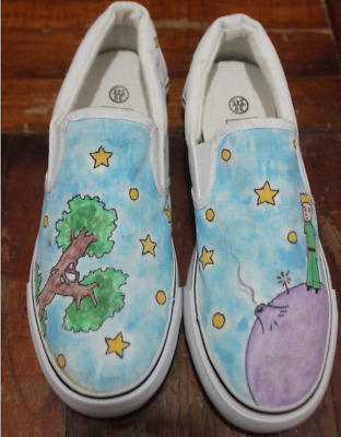58a101e812741f Hand Painted Shoes The Little Prince Shoes Anime Hand Painted Shoes Custom  Anime