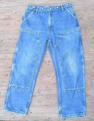 Men's Carhartt B07DNM Double Front Logger / Carpenter Jeans / Dungaree ~ 38 x 30