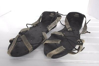 """Antique Vintage Korkers Rubber Ice Walking Metal Spike Shoes Soles 12"""" USA"""