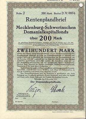 3 different.  Mecklenburg-Schwerin's Domanial Capital Funds bond Germany *