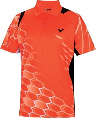 VICTOR Polo National orange 6265 Unisex Function Sport Shirt Herren Größe S