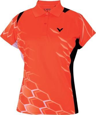 VICTOR Damen Polo National orange 6275 Function Lady Sport Shirt Trikot Größe XL