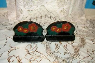 Chic Antique Iron Flower Bookends Shabby Victorian Nice French Gothic Paris Apt
