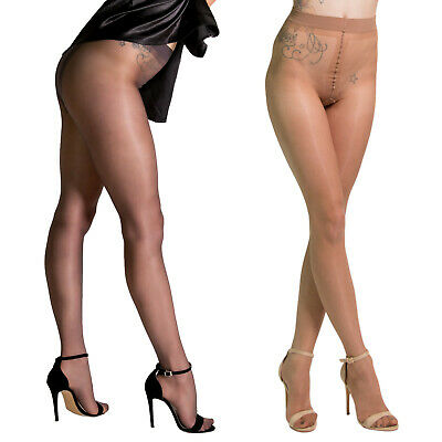 Cecilia de Rafael Vidrio Shiny Glossy Pantyhose Gloss Tights Sheer Sexy Wet Look