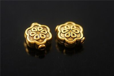 50pcs Golden Metal Beads Rondelle Loose Spacer Bead Jewelry Making Charms 10x8mm
