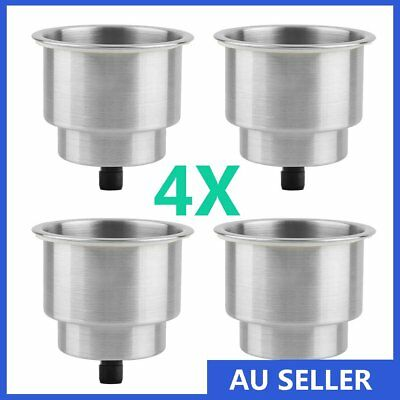 4X Stainless Steel Cup Drink Bottle Holder for Marine Boat RV Camper Universal H