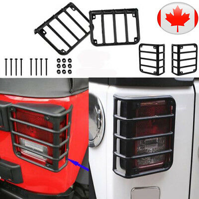 Rear Light Guard Tail Lamp Cover Protector Fit for 2007 - 2017 Jeep Wrangler CA