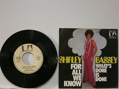 """Shirley Bassey - For all we know / What's done is done 7"""" 1971 UA D PicCvr NMint"""