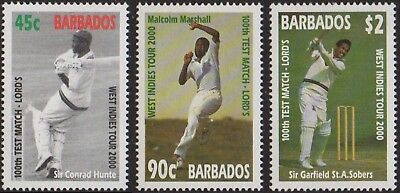 BARBADOS 2000 West Indies Cricket Tour and 100th Test Match at Lord's MH