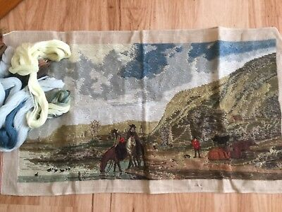 Tramme Tapestry to be stitched - Cattlemen + threads