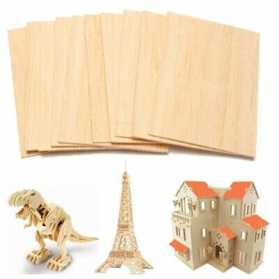 10pcs Wooden Plate Model Balsa Wood Sheets DIY House Ship Aircraft 150x100x2mm
