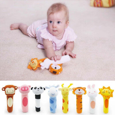 Soft Sound Animal Handbells plush Squeeze Rattle For Newborn Baby Fantastic Toy·