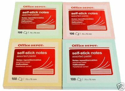 4 x Pads of Yellow Self Stick Notes 76 x 127mm Post 100 sheets per Pad it Y1X