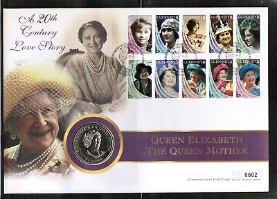 Isle of Man 1999 Queen Mother £5 Coin Cover