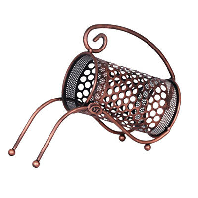 Lattice Design Single Wine Bottle Holder Iron Tabletop Wine Rack Bronze #1