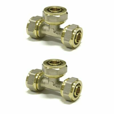 Equal Tee  PEX-AL-PEX 16 mm x 16 mm x 16 mm  BRASS COMPRESSION FITTINGS