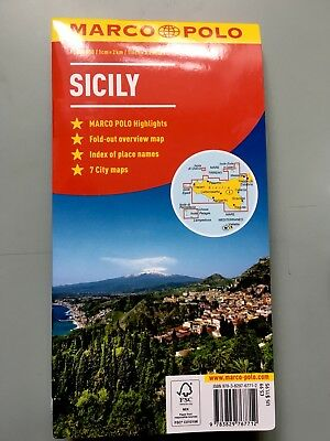 Marco Polo Road Map Of Sicily