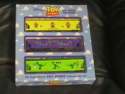 Disney Toy Story Tri-Set Train Set Ho Scale In Box Collector Set Electric
