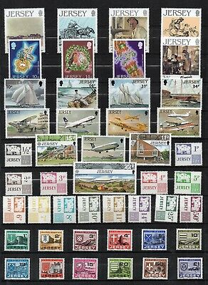 JERSEY 1971-87  STAMP Collection ALL Unmount Mint COMMEMS & POSTAGE DUEs RE:QH89