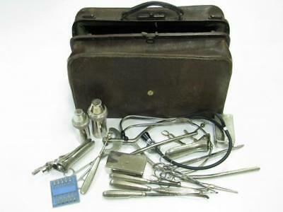 Antique Gynaecological Doctor Bag Over 20 Instrument Tools Gynecology
