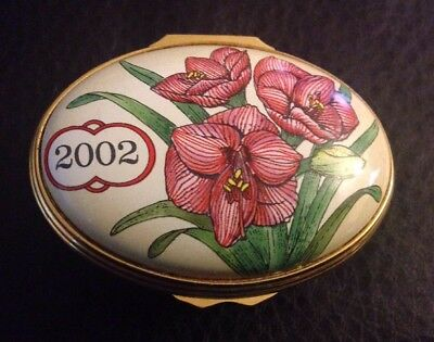 Halcyon Days 2002  A Year To Remember English Enameled Trinket Pill Box England