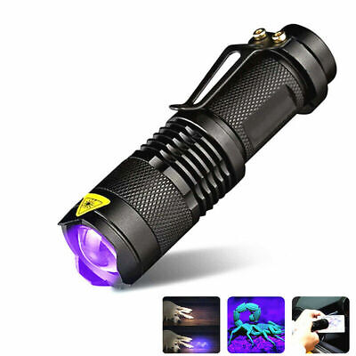 Mini UV Ultra Violet LED Flashlight Blacklight Light 395nm Inspection Lamp Torch