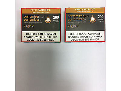 20 VIRGINIA  FLAVOUR  4 X 5 CARTOMIZERS 18 Mg COMPATIBLE WITH VIP