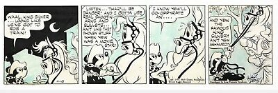 Floyd GOTTFREDSON, Mickey Mouse and Billy the Mouse, original daily strip 1945