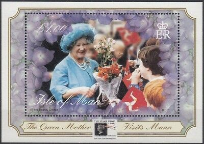 Isle of Man 2000 MNH Queen Mother's Visit London Stamp Show Overprint