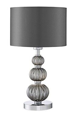 The Lighting Collection Stacked Gl Table Lamp Chrome