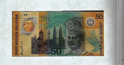 Malaysia RM50 Ringgit Commemorative Commonwealth Game UNC 1st Polymer  Banknote