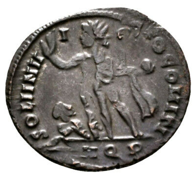 CONSTANTINE THE GREAT (317 AD) Exceptionally Rare Follis. Aquileia #MB 9637