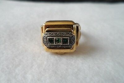 Vintage watch Ring 20 micron Rolled Gold working order