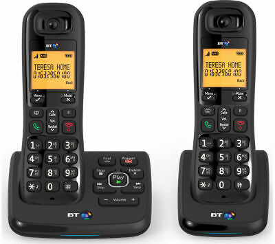 BT XD56 Cordless Phone with Answering Machine - Twin Handsets - Currys