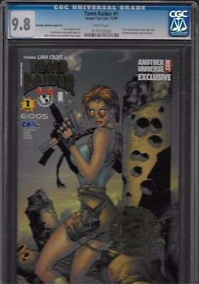 Tomb Raider Cgc # 1 Long Gone Another Universe Gold Foil 1St Tomb Raider Series