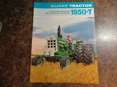 Oliver 1950-T tractor sales brochure very good 8 pgs **