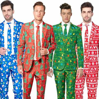 Mens Suitmeister Christmas Festive Fancy Dress Costume Suit Adult Outfit