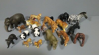 Lot of 19 Schleich Safari ltd wild animal figures