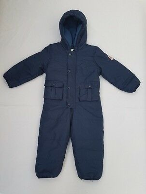 Boy's Avenue Baby Warm Padded Navy All-in-One Snowsuit Age 2-3