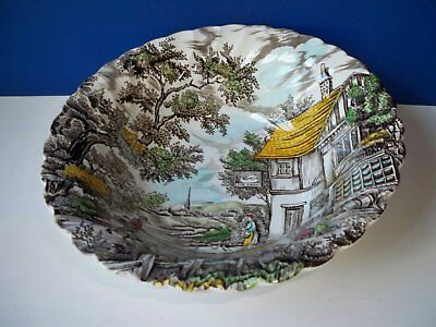 "Myott THE HUNTER Multicolor Transferware 8 1/2"" Round Serving Bowl"