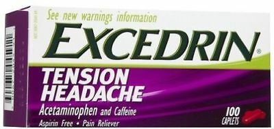 Excedrin Tension Headache Pain Reliever  100 Caplets Exp. 03/20
