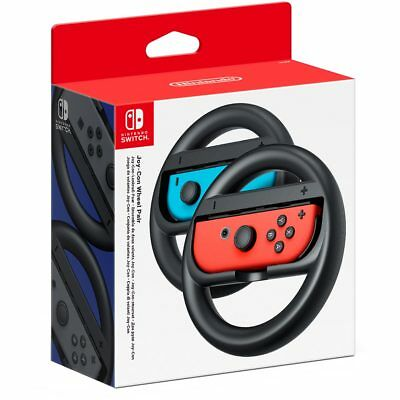 Nintendo Switch Racing Steering Wheel Joy-Con Holders Twin Pack NEW Official