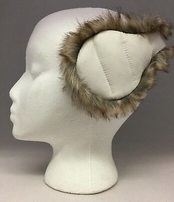 NIB 180s SNOW WHITE Down with Faux Fur Ear Warmers GREAT CHRISTMAS GIFT IDEA
