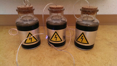 3 High Voltage Capacitor /Leydener Bottle for Tesla Coil, X-Ray /Experiment Lab