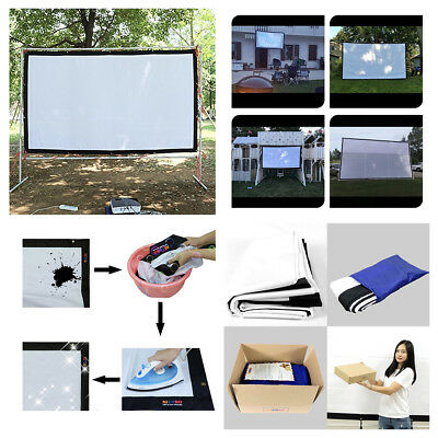Portable Projector Screen 120 Inch Theater Movies Class HD Front Rear Projection