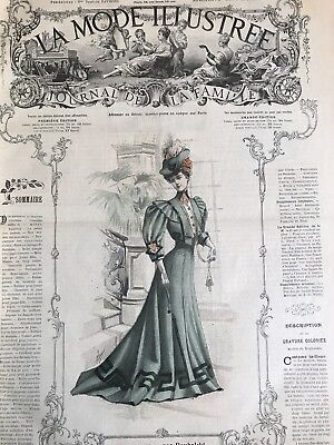 French  MODE ILLUSTREE SEWING PATTERN February 4 & 11 1906
