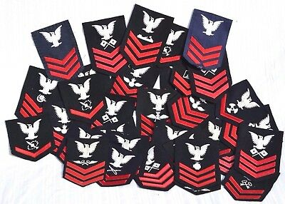 Large Lot 36 Vintage Usn Uniform Cloth Rate Patches Us Navy Patch American Naval